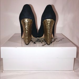Alice + Olivia Suede Glitter Pumps clearance best place JRsRA